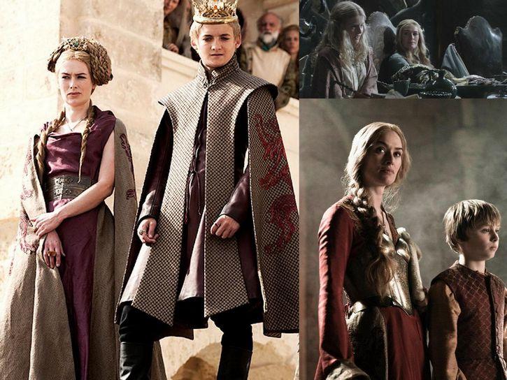 Cersei Lannister y sus hijos