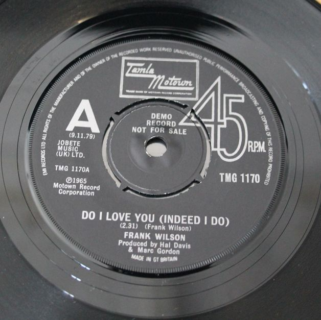 Do I Love You (Indeed I Do) Frank Wilson