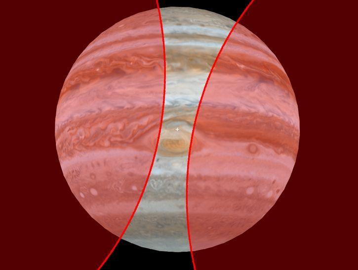 Gran Mancha Roja de Jupiter por sonda Juno (1)