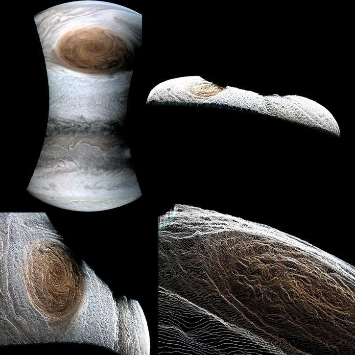 Gran Mancha Roja de Jupiter por sonda Juno (2)