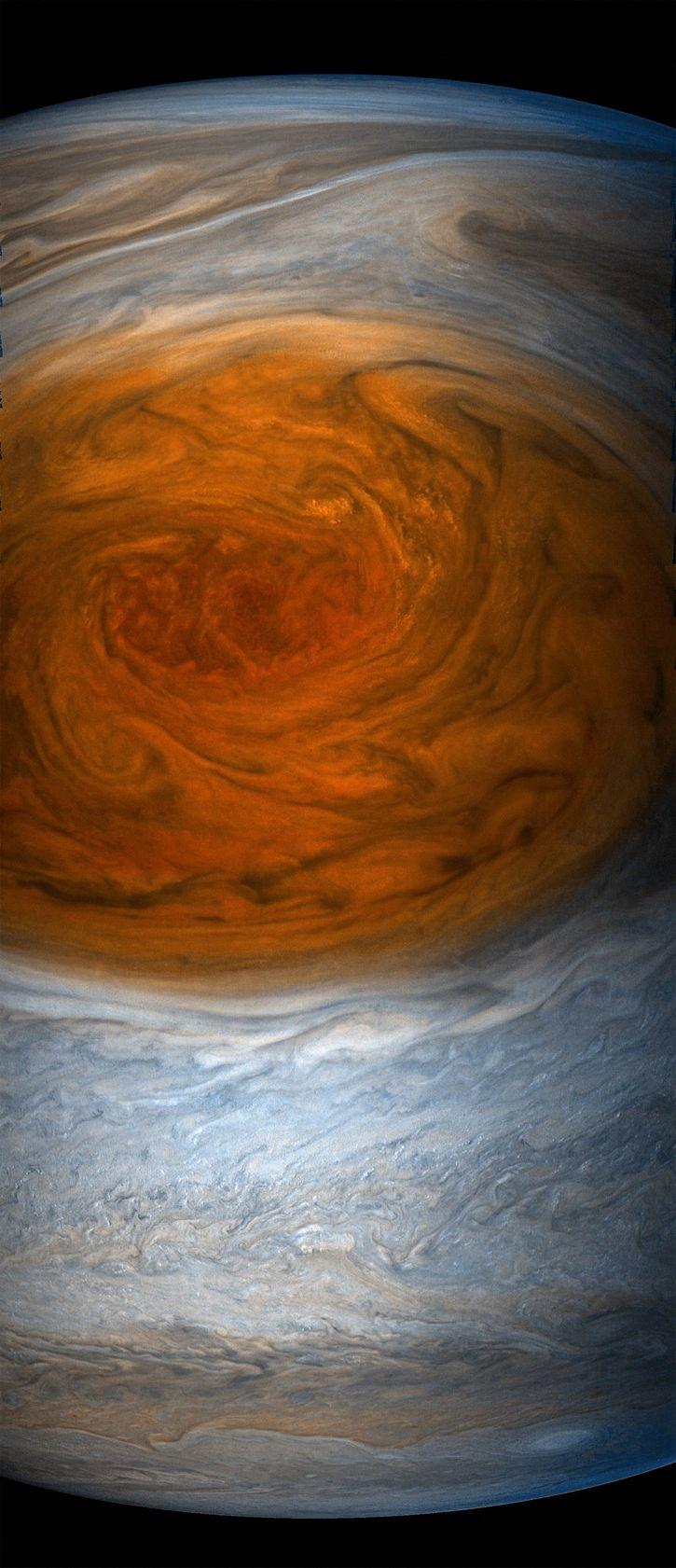 Gran Mancha Roja de Jupiter por sonda Juno (3)