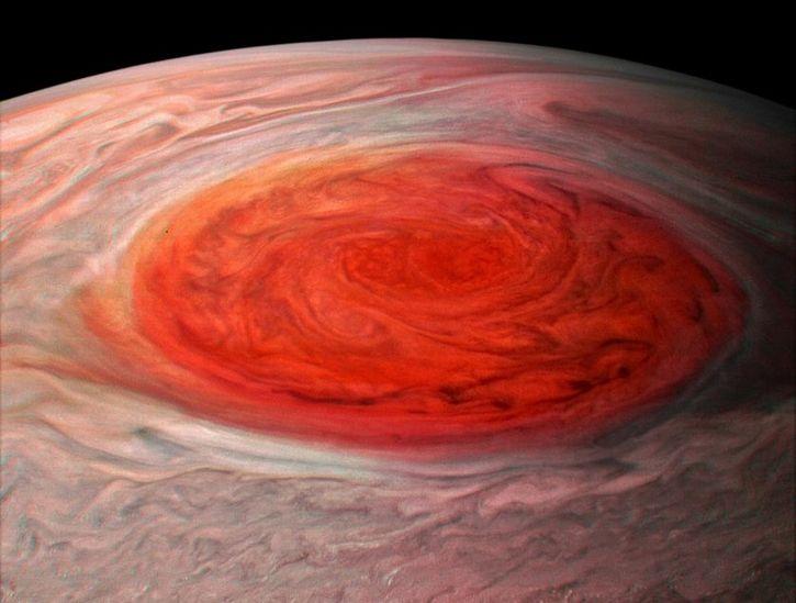 Gran Mancha Roja de Jupiter por sonda Juno (6)