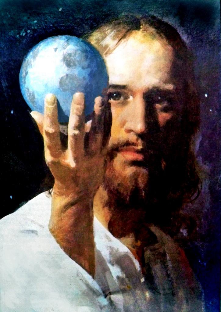 Jesus sostiene la Tierra