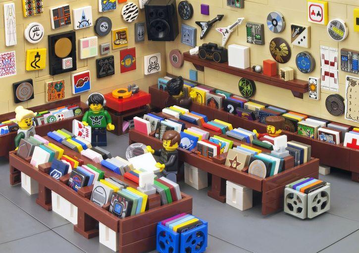 LEGO tienda de disco vinilo portada