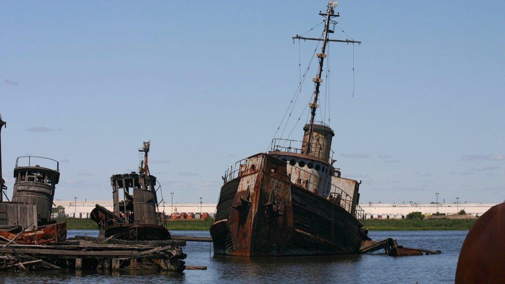 cementerio de barcos en manhattan