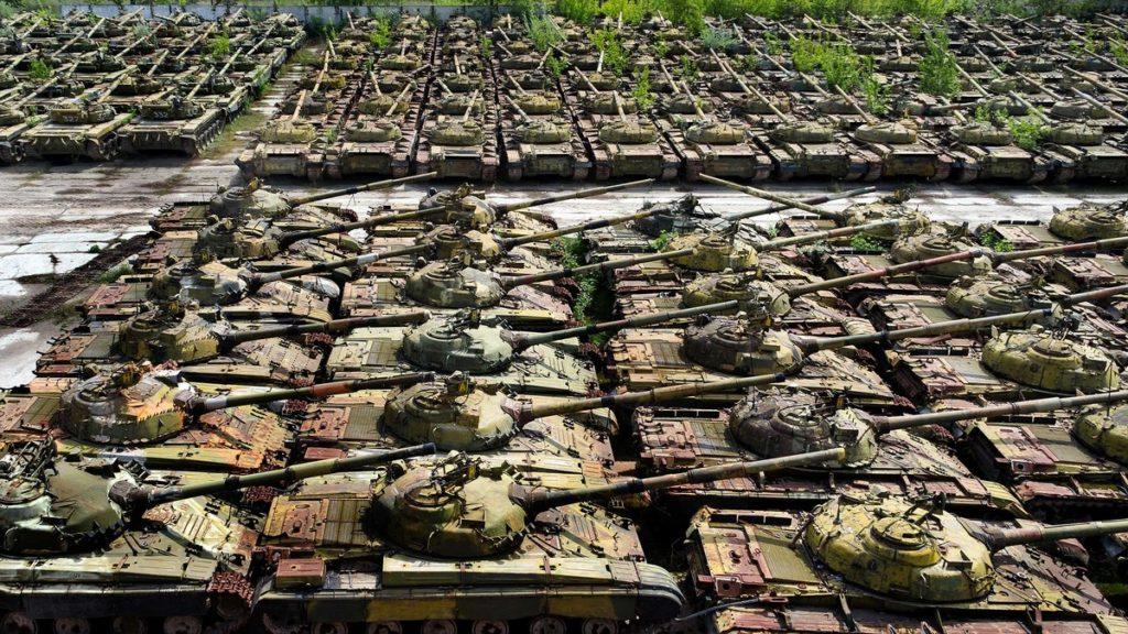cementerio de tanques de guerra