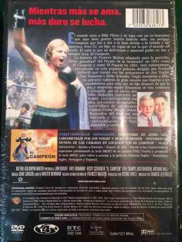 contraportada dvd el campeon