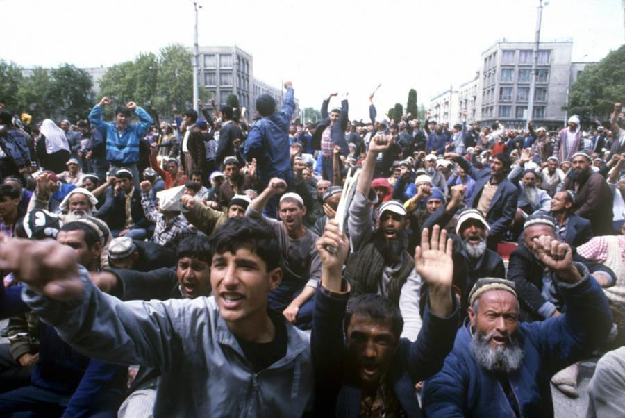 dushanbe riots protest