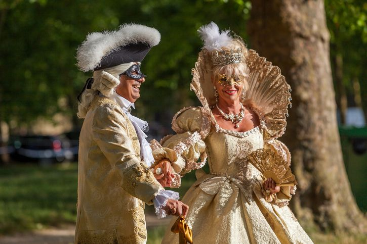 escenificacion en palacio de versalles