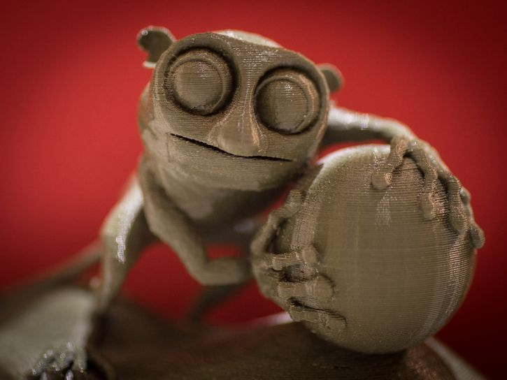 figura impresa en 3D lori