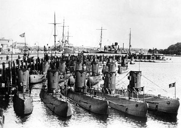 flota de submarinos alemanes nazis