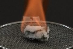 hidratos de metano encendido fuego