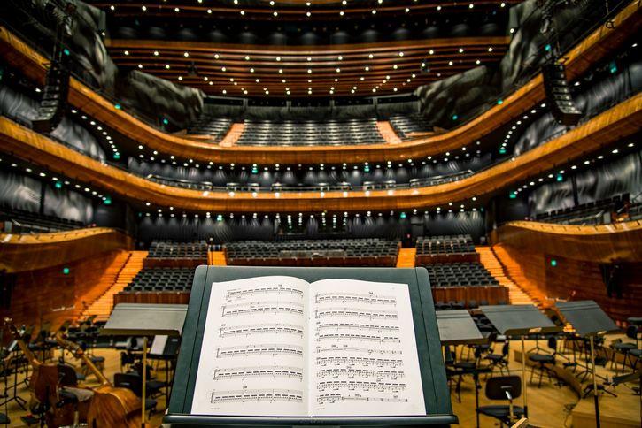 hoja musical en sinfonia
