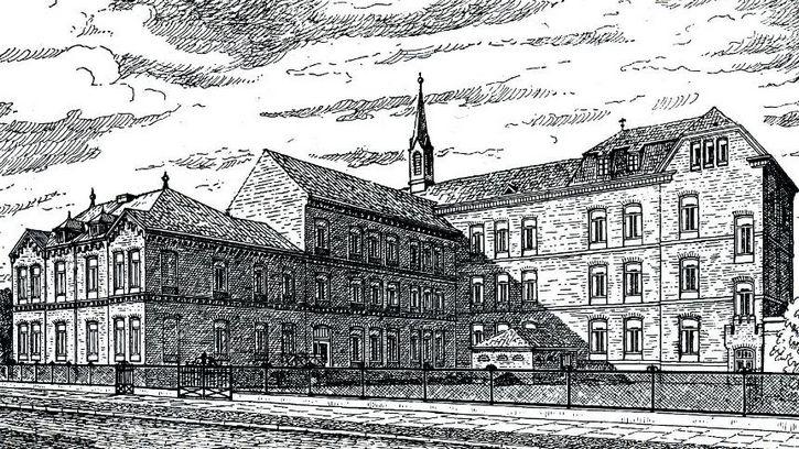ilustracion escuela Marienschule en Bremen Alemania