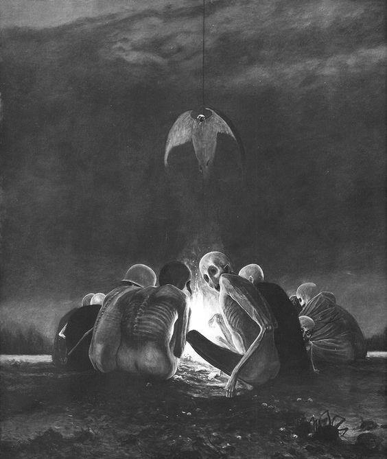 ilustracion macabra belsinski