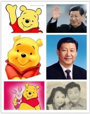 winnie pooh parecido xi jinping