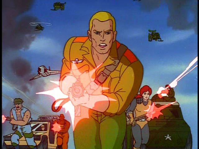 GI Joe disparando lasers