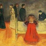 La Madre Muerta con niña de Munch