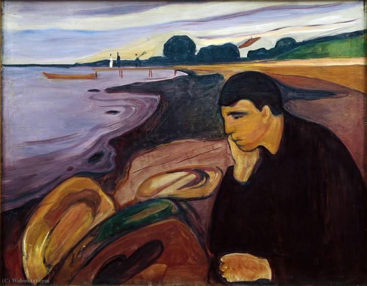 Melancolía 1891 de Edvard Munch