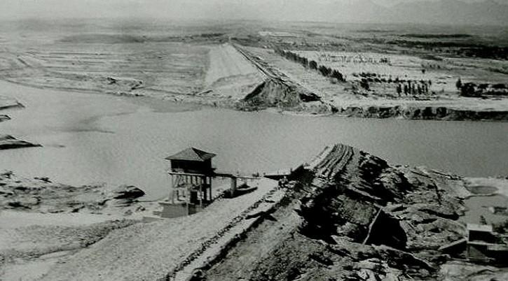 Ruinas de la presa Banqiao 1975 tifon nina