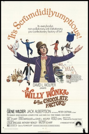 Willy Wonka y la fabrica de chocolates 1971 poster