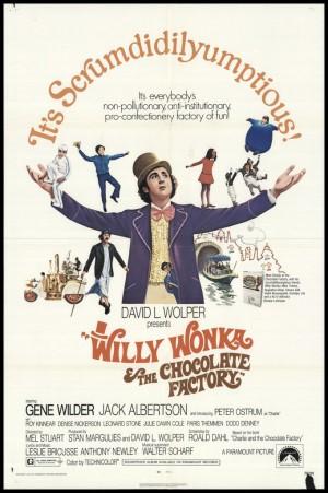 Willy Wonka y la fabrica de chocolates 1971 poster