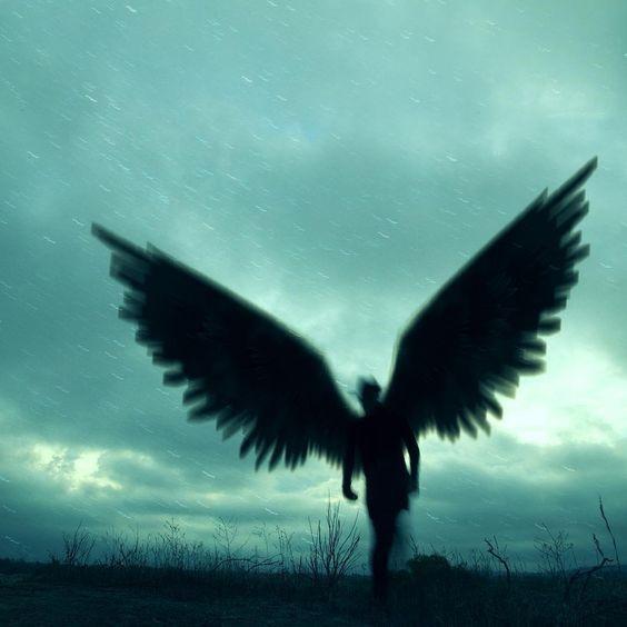 angel de la muerte silueta