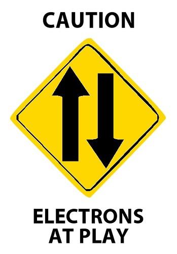 cartel cuidado electrones