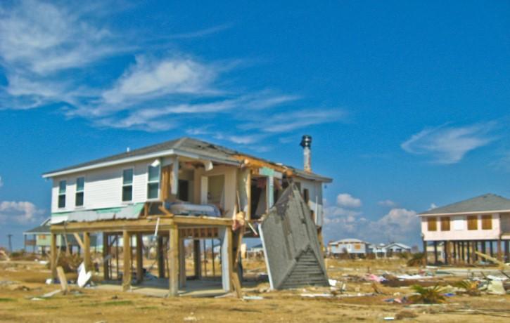 devastacion del huracan ike 2008