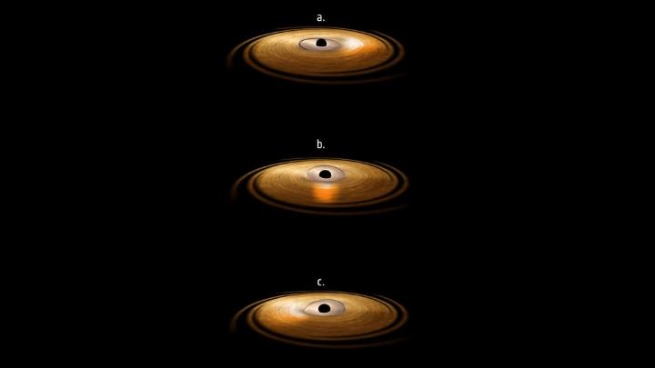 disco acrecion agujero negro