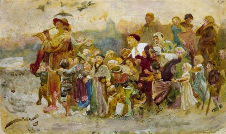 el flautista de hamelin encanta niños