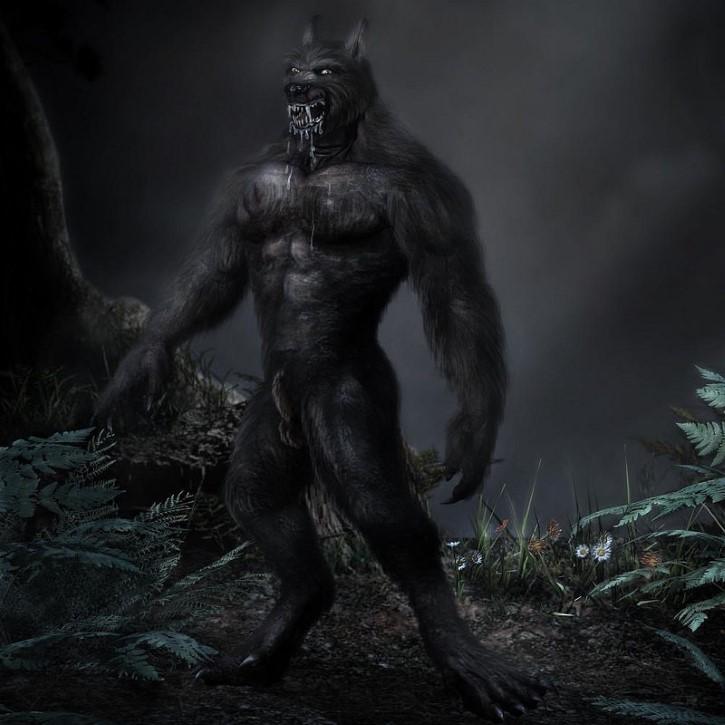 hombre lobo negro