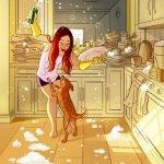 Ilustraciones sobre los placeres de vivir solo