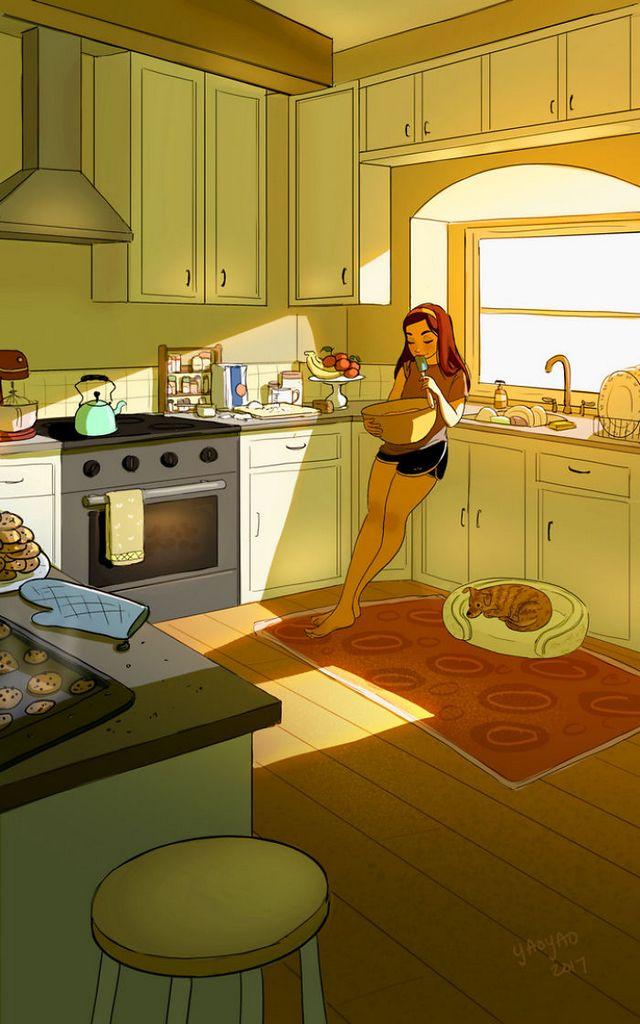 ilustraciones placer vivir solo (5)