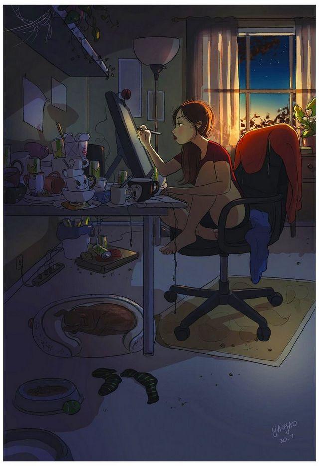 ilustraciones placer vivir solo (6)