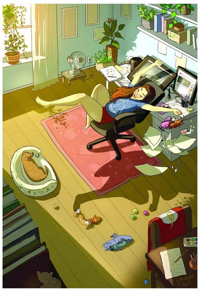 ilustraciones placer vivir solo (9)