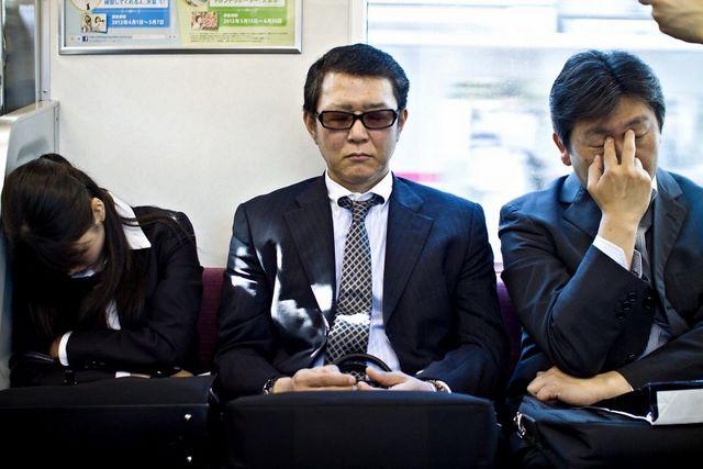 metro tokio trabajadores