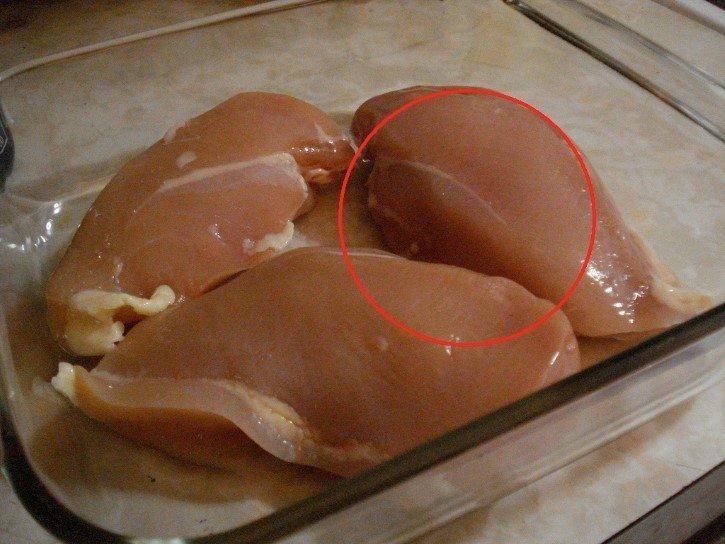 pechuga pollo cruda refractario