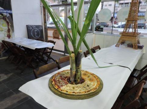 pizza con bambu