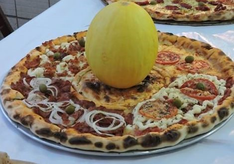 pizza con melon