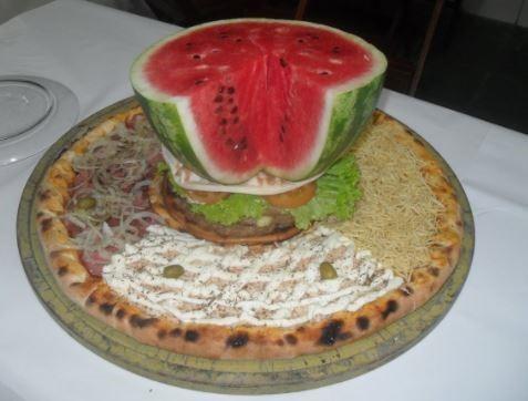 pizza con sandia