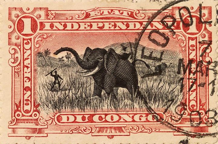 postal estado independiente del congo 1903
