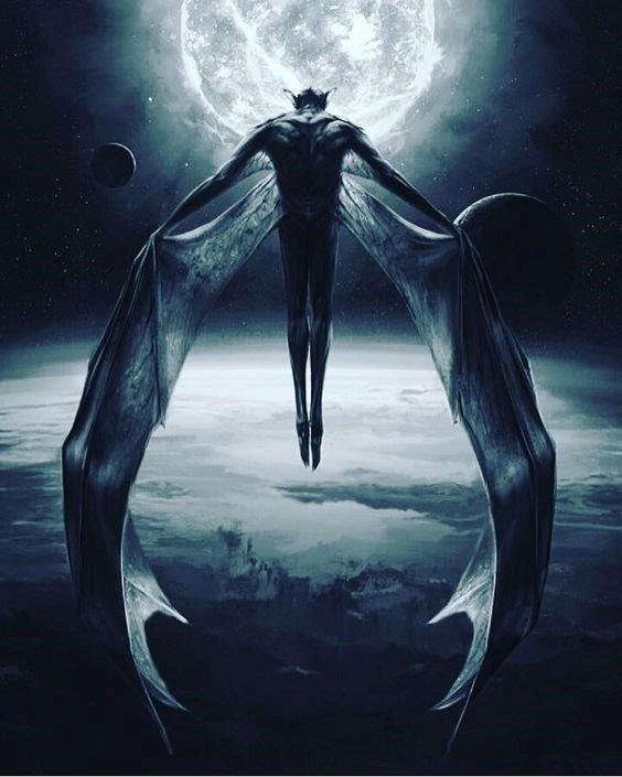 vampiro volando alas extendidas