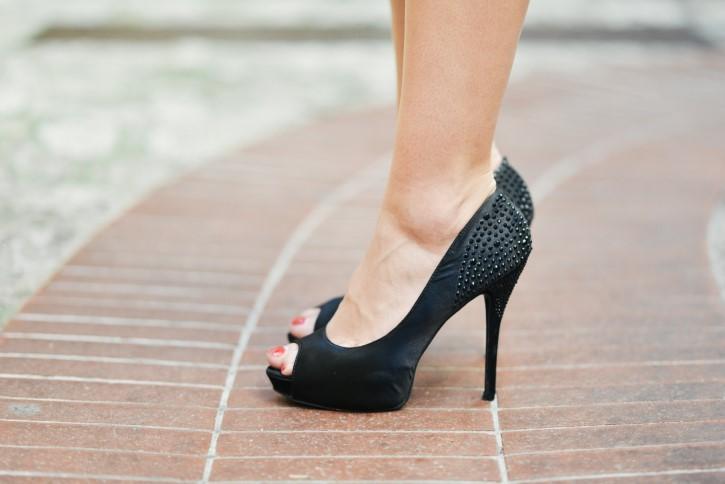 zapatillas de tacon alto
