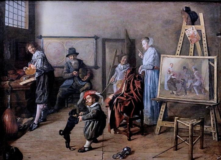 Jan Miense Molenaer el estudio del artista