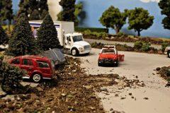 accidente miniatura representacion