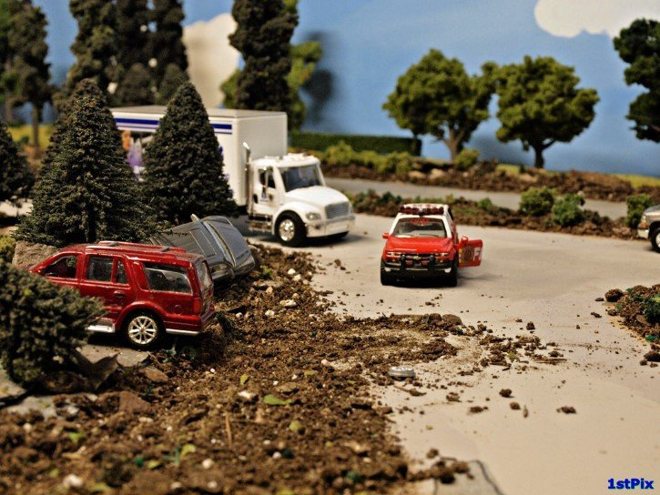 accidente miniatura representacion