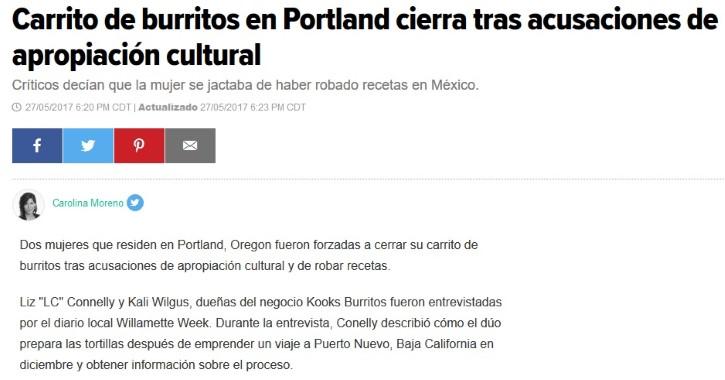 apropiación cultural de burritos