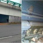 Se abre hoyo bajo un puente en Estado de México y encuentran ataúdes