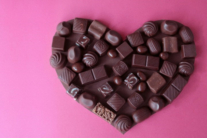 chocolate en forma de corazon
